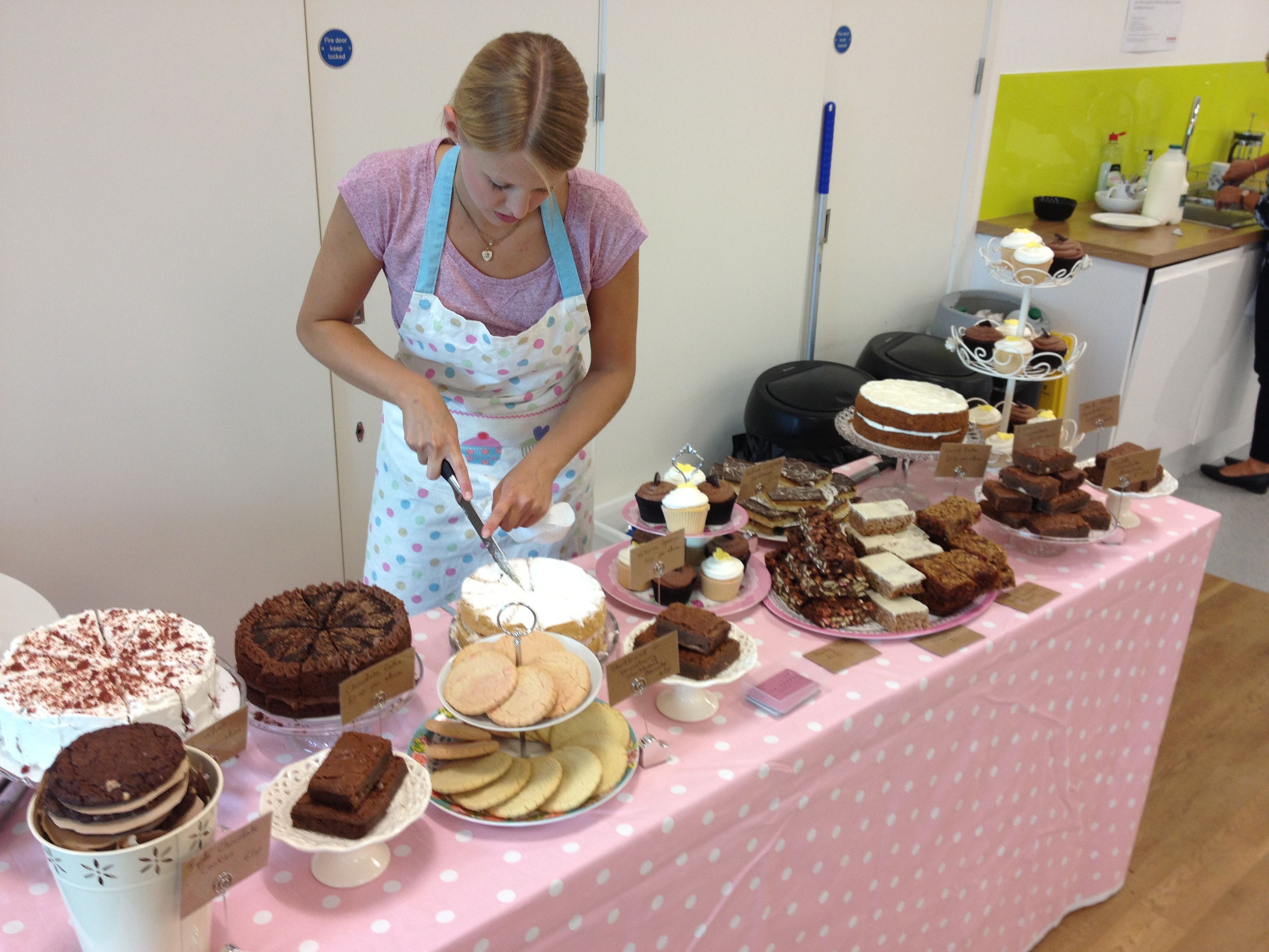 Cake Ideas For Cake Stall : Gratterpalm Advertsising Agency pop up cake stall, Leeds ...